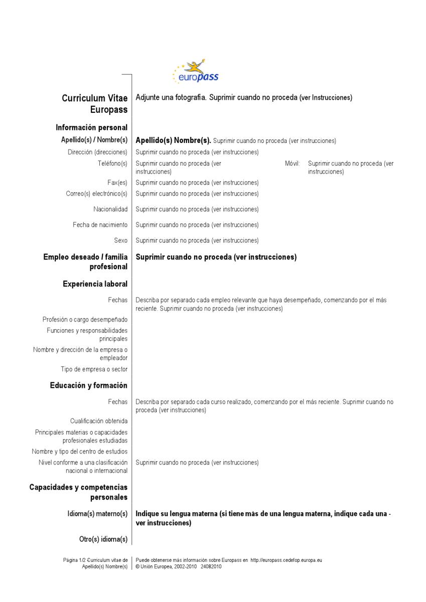 El Curriculum Vitae – EL LIRISMO DEL ALFABETO (Letras para ELE)